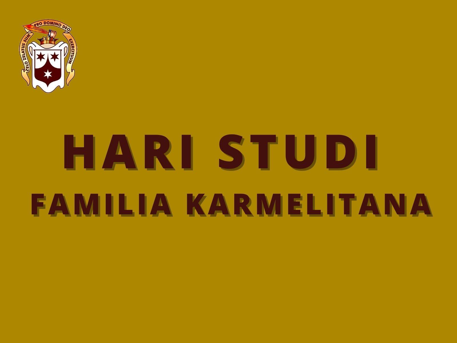 Hari Studi Familia Karmelitana